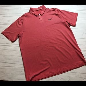 NWOT Nike Tiger Woods TW Control Stripe Golf Polo